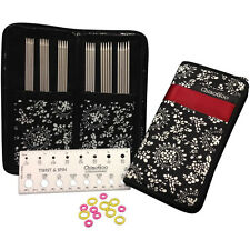 """ChiaoGoo Double Point Stainless Steel 6"""" Knitting Needles Set"""