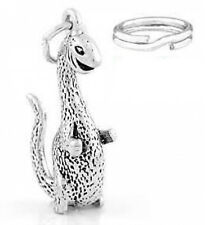 "STERLING SILVER ""DINOSAUR"" CHARM/PENDANT WITH ONE SPLIT RING"
