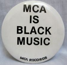 MCA Black Music Month - Promotional Pinback Button [1980s] - VG++