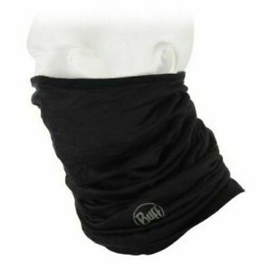 Buff Lightweight Merino Wool Multifunctional Headwear, Merino Wool Buff BLACK
