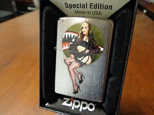 PINUP GIRL SEXY NOSE ART WWII WAR HAWK BABY ZIPPO LIGHTER MINT IN BOX MALAK