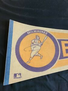 1970 Milwaukee Brewers Baseball Man Pennat