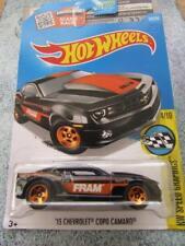 "Hot Wheels 2016 #179/250 2013 CHEVROLET COPO CAMARO black ""FRAM"" Long Card"