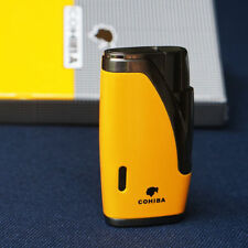 COHIBA Yellow TWO TORCH JET FLAME CIGAR CIG LIGHTER and PUNCH Smoking #456