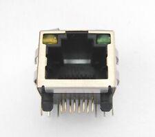 Connecteur à souder RJ45 femelle avec LED - Ethernet Female connector to solder