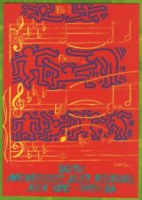 CARTE POSTALE MONTREUX JAZZ FESTIVAL 1986 DESIGN BY ANDY WARHOL & KEITH HARING