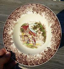 Vintage J & G Meakin Romantic England Rim Soup Bowl Brown Multicolor