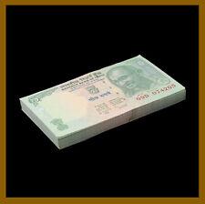 India 5 Rupees x 100 Pcs Bundle, 2010 P-94A Gandhi Unc