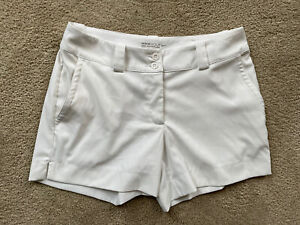 Nike Golf Women's White Size 4 Shorts Tour Performance Polyester