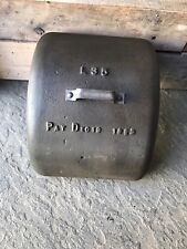 Vintage Antique Industrial Steampunk Metal Factory Gear Service Cover Pat.1800's