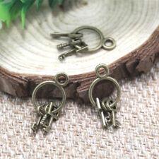 30pcs Set of Keys Charms bronze tone Set of Keys Charms Pendant 25x14mm