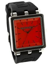 BRAND NEW IN BOX MENS Rockwell CARBON FIBER Wrist Watch BLACK RED CF-123 LIMITED
