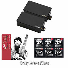 EMG Zakk Wylde ZW 81 85 Set Black Active Humbucker Pickups w Dunlop Strings x6