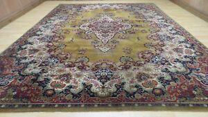 "Large PERSAIN design CARPET RUG Oriental Wool KESHAN 11FT 3"" x 8FT 3"""