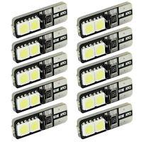 10pcs T10 168 194 W5W Wedge 4 SMD 5050 CANBUS ERROR FREE LED White Light bulb