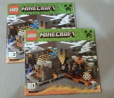 Lego MINECRAFT Instruction Manual Booklet Only #21124 The End Portal Bks.1-2