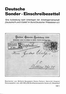 Bergmann/Paikert/Ungerer: Deutsche Sonder-Einschreibzettel (2 Brosch 1971/72)