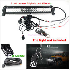 40A 12V Wiring Kit With Wireless Remote Control For LED Light Bar Offroad 2Lead