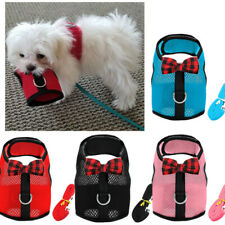 Comfortable X Harness Dog Soft Mesh Vest Leash Small XXS XS for Yorkie Shih Tzu