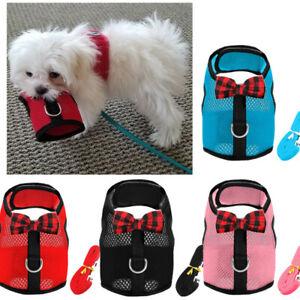 Comfortable X Harness Dog Soft Mesh Vest Leash Small XXS XS for Yorkie Shih Tzu