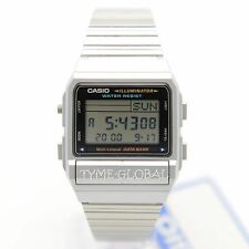 Casio DB-380-1D Silver DataBank Data Bank Vintage Digital Dual Time Watch DB380