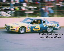 RARE DALE EARNHARDT SR #3 WRANGLER PONTIAC 1981 8x10 PHOTO NASCAR WINSTON CUP