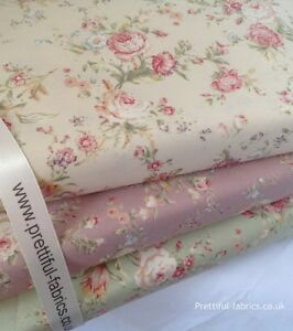 VINTAGE ROSES Floral 100% Cotton fabric, Sewing, Craft. NEW SPRING COLLECTION