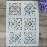 Layering Stencils For Wall Painting Scrapbooking Template Decorat Craft DIY O0L3