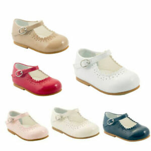 SEVVA GIRLS CLASSIC DRESS SHOES SPANISH MARY JANE HARD SOLE PRAM/WALKING SHOES
