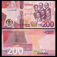 Ghana 200 Cedis, 2019, P-New, Banknote, UNC