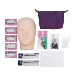 Professional One Training Head Model False Eyelashes Extension Practice Kit Tool