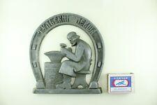 "Soviet souvenir horseshoe ""Tula Lefty""  Blacksmith, USSR vintage decor. Wedding"