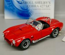 1/24 FRANKLIN MINT CARROLL SHELBY COBRA 427 S/C • RED • LIMITED #505 of 2500