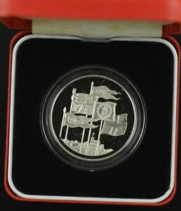1996  ROYAL MINT SILVER PROOF CROWN QUEENS 70TH BIRTHDAY