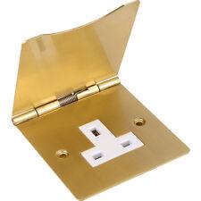 NEW 10 X Electrical Floor Socket Single Brass Each FreePost.UK Seller