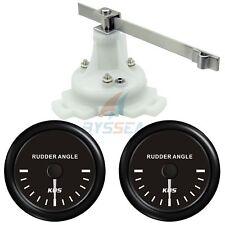 KUS Boat Marine Rudder Angle Gauge Indicator W/ Dual Station Rudder Sensor