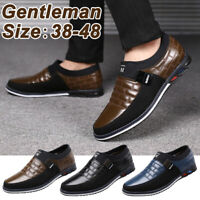 Men Business Leather Dress Driving Moccasins Flat Slip On Loafers Comfort Shoes
