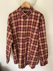Orvis Cotton/Merino Check Long Sleeved Shirt XL