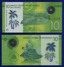 NICARAGUA 10 CORDOBAS 2014 P-NEW POLYMER ES-3