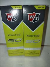 6 New Wilson Staff Fifty Elite 50 Compression Yellow Golf Balls