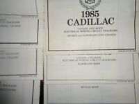 1985 Cadillac Wiring Diagrams Lot of 7