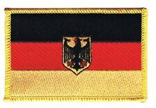 Deutschland mit Adler Aufnäher Flaggen Fahnen Patch Aufbügler 8x6cm