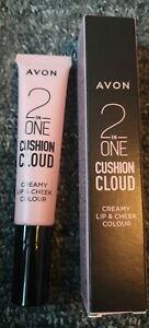 Avon 2 in 1 Cloud Cushion Creamy Lip & Cheek Colour - Plush In Peach X 2 NEW!!