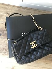 Chanel Classic Gold Chain Strap Flap Bag - Black