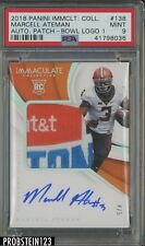 2018 Immaculate Collegiate Marcell Ateman RPA RC Bowl Logo Patch AUTO 4/5 PSA 9