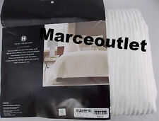 Hotel Collection Woven Texture FULL / QUEEN Duvet Cover White