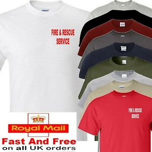 FIRE AND RESCUE SERVICE T SHIRT