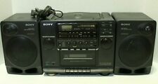 Sony CFD-510 CD Radio Cassette Player Black Portable Boombox Ghetto Blaster