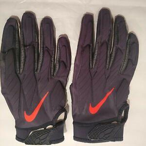 Nike Alpha NFL Batting Gloves Chicago Bears 3XL Blue Orange #86