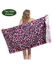 yongjian Large Beach Towel Microfiber Sand Free Quick Dry Soft and Super Abso...